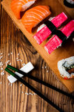 Colorful tasty sushi Royalty Free Stock Images