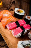 Colorful tasty sushi Stock Images