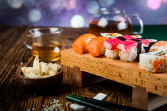 Colorful tasty sushi Royalty Free Stock Photo