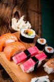 Colorful tasty sushi Royalty Free Stock Photos