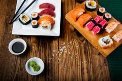 Colorful tasty sushi Stock Photo