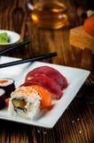 Colorful tasty sushi Royalty Free Stock Photo