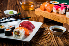 Colorful tasty sushi Royalty Free Stock Photography