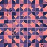 Colorful tattered textile geometric seamless pattern Stock Image