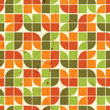 Colorful tattered textile geometric seamless pattern, vector abs. Tract infinite retro background Royalty Free Stock Photography