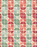 Colorful tattered textile geometric seamless pattern Royalty Free Stock Images