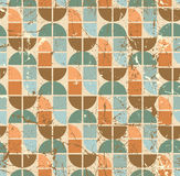 Colorful tattered textile geometric seamless pattern, vector wav Stock Images