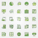 Colorful tax icons Royalty Free Stock Photography