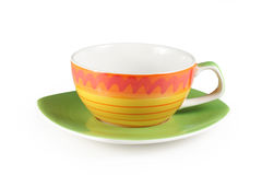 Colorful tea cup Stock Images