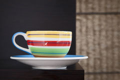 Colorful tea cup Royalty Free Stock Photos