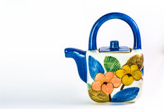 Colorful tea pot Stock Photos