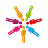 Colorful team of executives in abstract figure human. Vector illustration Royalty Free Stock Photo