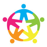 Colorful team symbolic icon. Royalty Free Stock Photos
