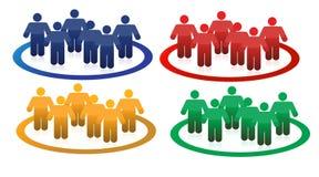 Colorful teams illustration design Stock Photo