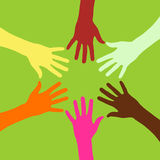 Colorful teamwork Royalty Free Stock Photography