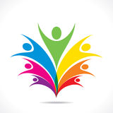 Colorful teamwork or freedom design concept Stock Photography