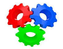 Colorful Teamwork Gears. On a white background Stock Photography