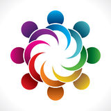 Colorful teamwork or unity design concept Royalty Free Stock Photography