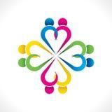 Colorful teamwork or unity design concept royalty free illustration