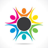 Colorful teamwork or unity design concept Royalty Free Stock Photo