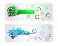 Colorful Tech Vector Banner. Colorful  Shape and  Tech Banner Stock Photo