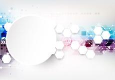 Colorful techno background schematic. Stock Photo