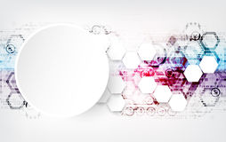 Colorful techno background schematic. Stock Images
