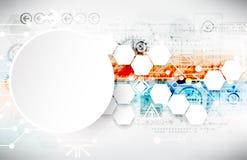 Colorful techno background schematic. Stock Image