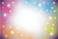 Colorful Techno Dots Stock Photography