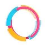 Colorful techno style circle border frame royalty free stock photo