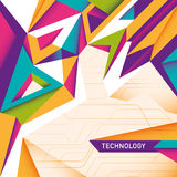 Colorful technology abstraction. Royalty Free Stock Photography