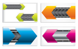 Colorful technology business card set Royalty Free Stock Images