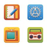 Colorful technology icons for web and printing vector illustration
