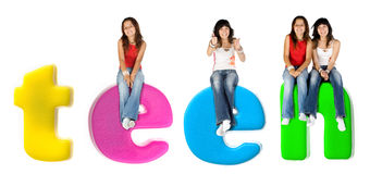 Colorful teenagers Royalty Free Stock Photos