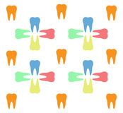 Colorful teeth pattern Stock Image