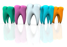 Colorful Teeth Stock Image
