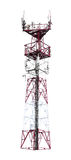 Colorful telecommunication tower Royalty Free Stock Photo