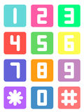 Colorful telephone number. On white background Royalty Free Stock Image