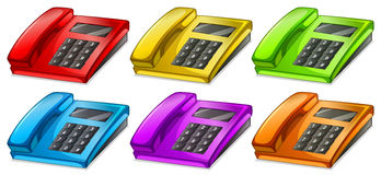Colorful telephones Stock Photo
