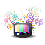 Colorful television abstract background. It is colorful television abstract background. And colors are pink, red, blue, yellow, white, green, purple illustration Stock Images