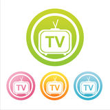 colorful televisions signs Stock Photos
