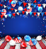 Colorful Template for American Holidays Stock Image