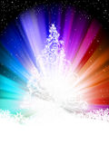 Colorful template, with stars. EPS 8. Colorful template, with stars, snowflakes and Christmas tree. EPS 8  file included Royalty Free Stock Photography
