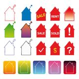 Colorful template vivid icons web internet Stock Image