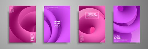 Colorful templates set with abstract elements. Abstract blending liquid color shapes cover design. Applicable for. Brochures, flyers, banners, covers, notebooks Stock Photos