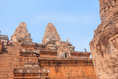 A colorful temple in Angkor Royalty Free Stock Photo