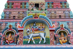 Colorful Temple Art Stock Photo
