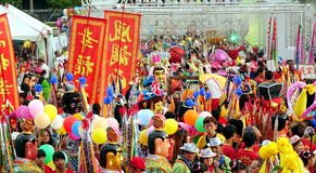 Colorful Temple Carnival in Taiwan Royalty Free Stock Photos