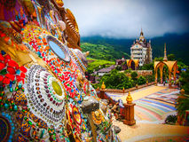 Colorful Temple. Clolrful temple on the mountain Stock Images