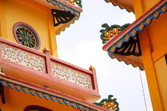 Colorful temple detail Royalty Free Stock Image